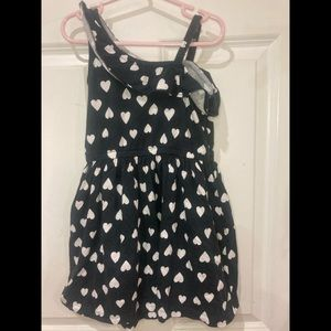 Carter's girls dress strap shoulder black size 5